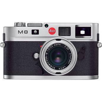 Leica M8 Rangefinder Digital Camera Body (Silver Chrome)