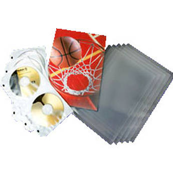 """Lineco Polyguard Digital Output Sleeving - Clear/Sealed Flap - 4 x 6"""" - 500 Pack"""