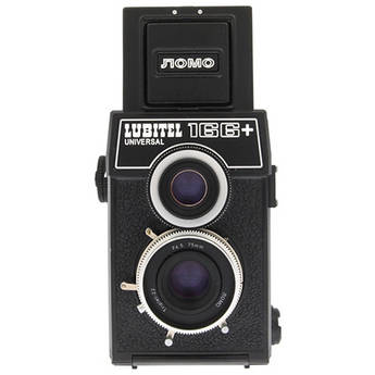 Lomography Lubitel 166+ 35mm/Medium Format Twin Lens Reflex (TLR) Camera with Built-in 75mm f/4.5 Lens