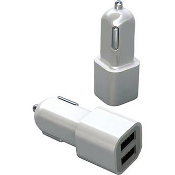 Macally CARUSB Dual USB Car Charger for Apple iPhone 4