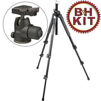 Manfrotto 055XPROB Tripod Legs with 468MGRC2 Magnesium Hydrostatic Ballhead