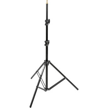 Manfrotto 366B Basic Black Light Stand - 6.4' (1.9m)