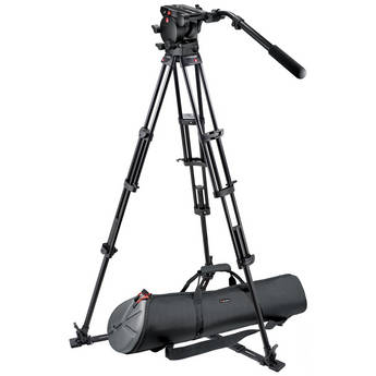Manfrotto 526,545GBK Professional Video Tripod System with 526 Head (Black)