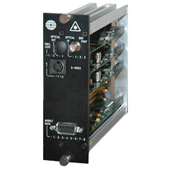 Meridian Technologies DR-1S2A-3FC Fiber Optic S-Video Receiver with Audio