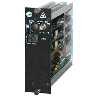 Meridian Technologies DR-1S-3FC Dual Slot Fiber Optic S-Video Receiver