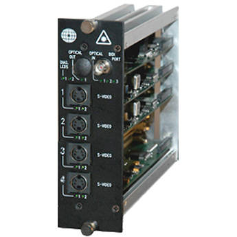 Meridian Technologies DR-4S-3FC Dual Slot Fiber Optic S-Video Receiver