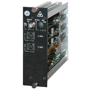 Meridian Technologies DT-2S-3FC Dual Slot Fiber Optic S-Video Transmitter
