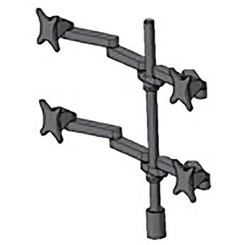 Middle Atlantic MMB2X2 Flat Panel Articulating Desk Mount (Black)