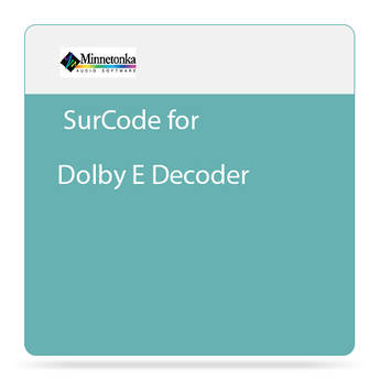 SurCode SurCode for Dolby E Decoder - Plug-In Decoder