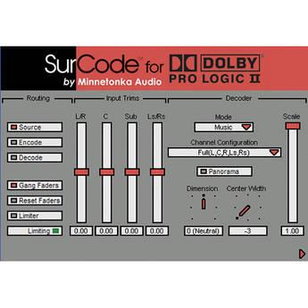 SurCode SurCode Dolby Pro Logic II v2.4 - Encoding Software (Upgrade)