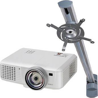 Mitsubishi EW230U-ST-WMB Ultra-Short Throw WXGA Projector Bundle