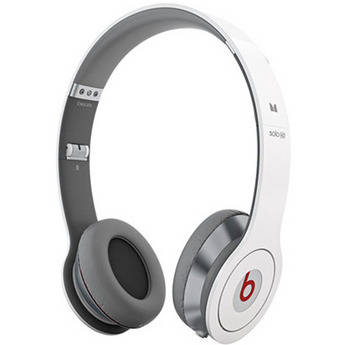Monster Power Beats by Dr. Dre Solo HD On-Ear Headphones with ControlTalk (White)