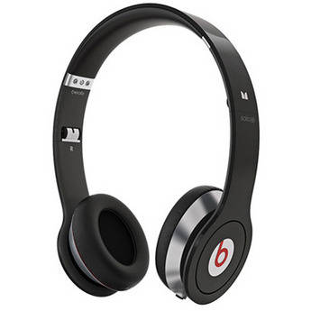 Monster Power Beats by Dr. Dre Solo HD On-Ear Headphones with ControlTalk (Black)