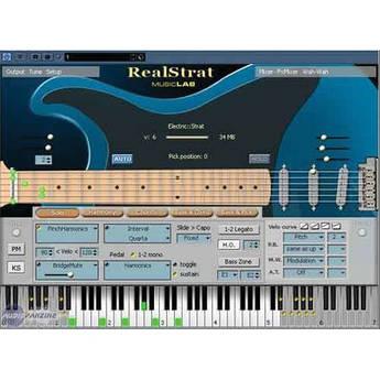 MusicLab RealStrat Fender Stratocaster Virtual Instrument
