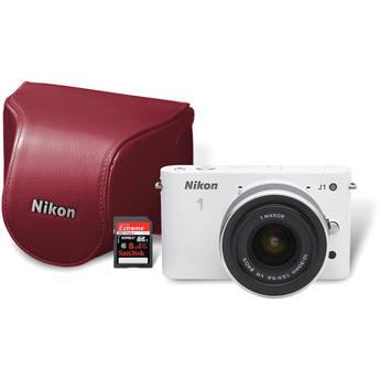 Nikon 1 J1 Digital Camera with 10-30mm VR Zoom Lens Kit (White)