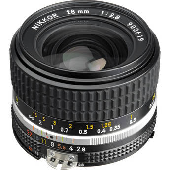 Nikon NIKKOR 28mm f/2.8 AIS Manual Focus Lens
