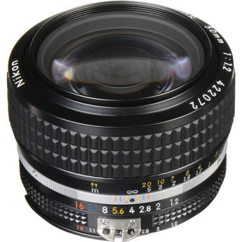 Nikon NIKKOR 50mm f/1.2 AIS Manual Focus Lens