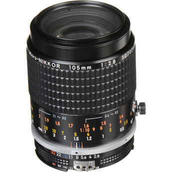 Nikon Telephoto Micro-Nikkor 105mm f/2.8 AIS Manual Focus Lens
