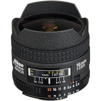 Nikon Fisheye 16mm f/2.8D Autofocus Lens