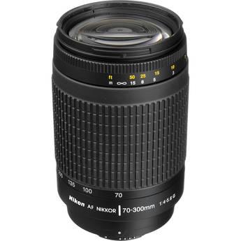 Nikon AF Zoom Nikkor 70-300mm f/4-5.6G  Lens (Black)