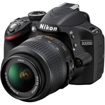 Nikon D3200 Digital SLR Camera With AF-S DX NIKKOR 18-55mm 1:3.5-5.6G VR Lens (Black)