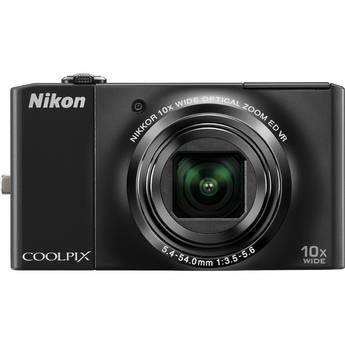 Nikon Nikon CoolPix S8000 Digital Camera (Black)