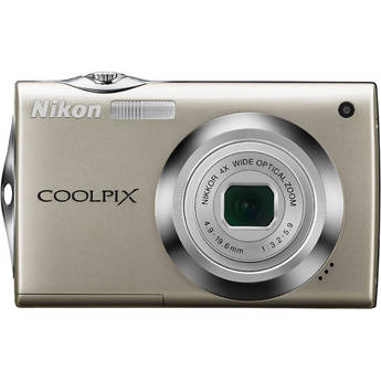 Nikon Coolpix S4000 Digital Camera (Silver)