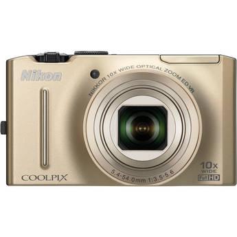 Nikon CoolPix S8100 Digital Camera (Gold)
