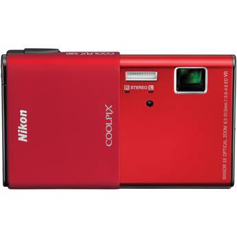 Nikon CoolPix S80 Digital Camera (Red)