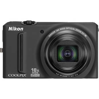 Nikon Coolpix S9100 Digital Camera (Black)