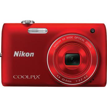 Nikon Coolpix S4100 Digital Camera (Red)