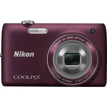 Nikon Coolpix S4100 Digital Camera (Plum)