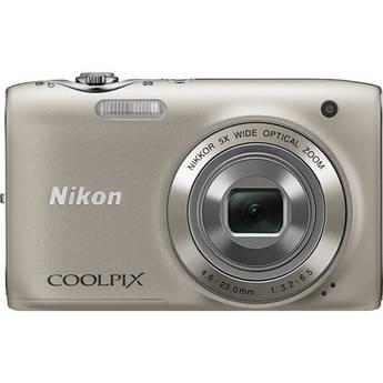 Nikon Coolpix S3100 Digital Camera (Silver)