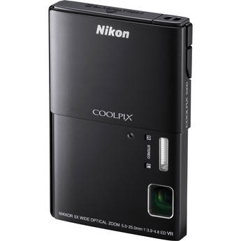 Nikon CoolPix S100 Digital Camera (Black)