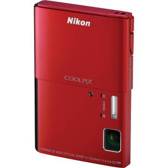Nikon CoolPix S100 Digital Camera (Red)