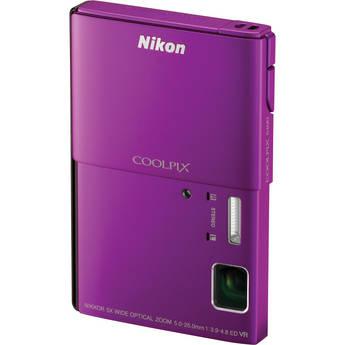 Nikon CoolPix S100 Digital Camera (Purple)