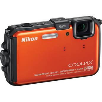 Nikon Coolpix AW100 Waterproof Digital Camera (Orange)