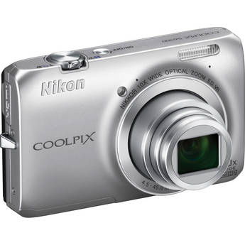 Nikon Coolpix S6300 Digital Camera (Silver)