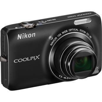 Nikon Coolpix S6300 Digital Camera (Black)