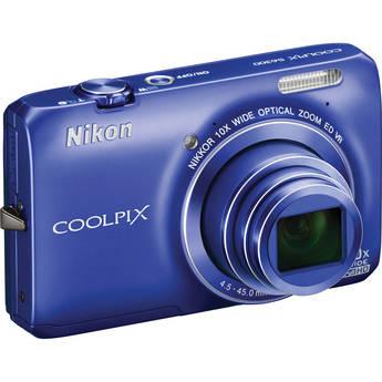 Nikon Coolpix S6300 Digital Camera (Blue)