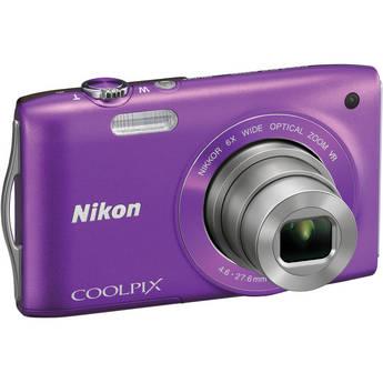Nikon Coolpix S3300 Digital Camera (Purple)