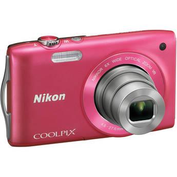 Nikon Coolpix S3300 Digital Camera (Pink)