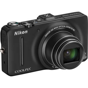 Nikon Coolpix S9300 Digital Camera (Black)