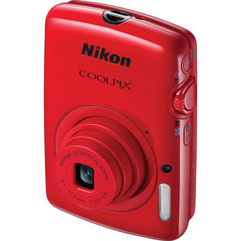 Nikon COOLPIX S01 Digital Camera (Red)