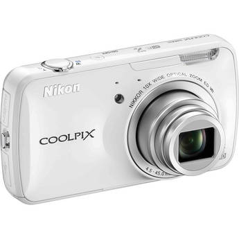 Nikon COOLPIX S800c Digital Camera (White)