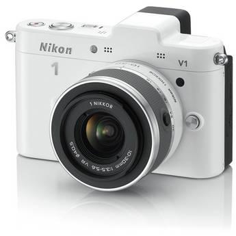Nikon Nikon 1 V1 Mirrorless Digital Camera with 10-30mm Lens (White)