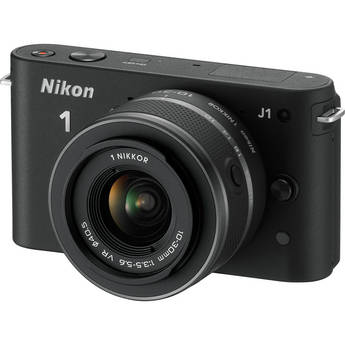 Nikon 1 J1 Mirrorless Digital Camera with 10-30mm VR Zoom Lens (Black)