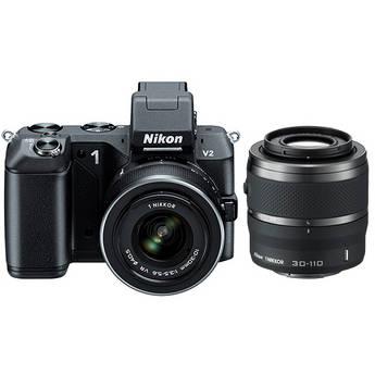 Nikon 1 V2 Mirrorless Digital Camera with 1 NIKKOR VR 10-30mm f/3.5-5.6 and 30-110mm f/3.8-5.6 Lens Kit (Black)