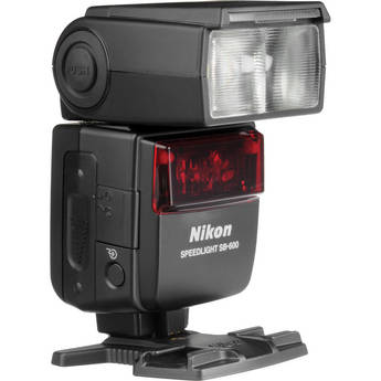 Nikon SB-600 AF Speedlight i-TTL Shoe Mount Flash (Guide No. 98'/30 m at 35mm)