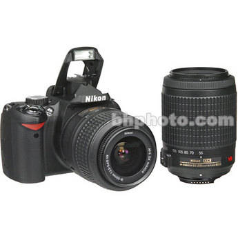 Nikon D60 SLR Digital Camera Kit with 18-55mm VR Lens & 55-200mm VR Lens